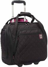 Delsey Paris underwater tote travel luggage bag cosmetic quilted black