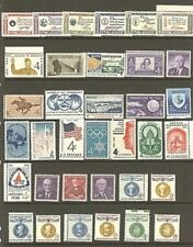 U.S. 1960 Commemorative Year Set 35 MNH Stamps
