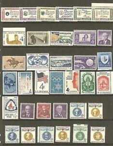 U.S. 1960 Commemorative Year Set 35 MNH Stamps