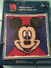 Vintage Mickey Mouse Latch Hook Rug Kit Crafting Project Disney Brand