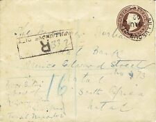 Anglo Boer War 1902 India Julundur City registered cover to Natal South Africa