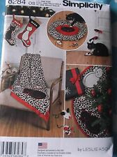 SEW PATTERN S8284 HOLIDAY STOCKINGS TREE SKIRT THROW CAT DOG PET BED & TOYS