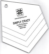 Simply Crazy Template Ruler by Rachel Shelburne for EZ Quilting