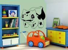 BuIbasaur pokemon wall art autocollant vinyle autocollant amovible cartoon personnage catch