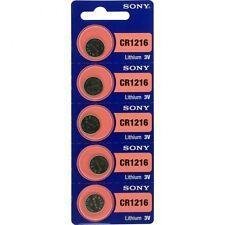 10 x Sony Batterie CR1216 Lithium 3V Knopfbatterie CR 1216 Knopfzelle
