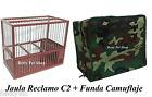 JAULA de RECLAMO C2 con FUNDA incluida!!!. JILGUERO, PAJARO,CANARIO,SILVESTRE