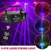 Fern 9-Auge RGB DMX Projektor laser LED Stroboskope DJ Party Bühnenlichter Disko
