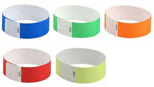 """Assorted Tyvek 1"""" event wrist bands (5 solid colors, 25 bands total)"""