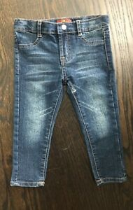 Seven 7 For All Mankind Toddler Girl's Sz 2T Distressed Skinny Stretch Jeans
