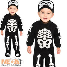 Bitty Bones Kids 6-12 M Fancy Dress Halloween Skeleton Babies Childrens Costume