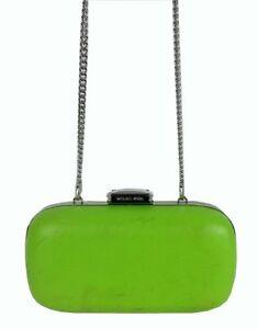 MICHAEL KORS ELSIE Dome Pear Leather Clutch/Shoulder Bag Msrp $198 *REDUCED 70%