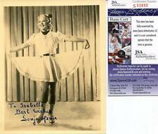 SONJA HENIE OLYMPIC GOLD MEDAL SKATER SIGNED PHOTO AUTOGRAPH JSA AUTHENTICATED