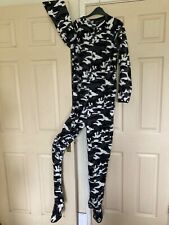 New mens fleece bodysuit size M with zip front and feet. BNWOT