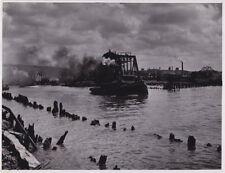 NYC BRIDGE & TUGBOAT 'California' * Rare VINTAGE 1941 TRANSPORTATION press photo