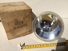 Vintage NOS 4524 6V Wagner Spot Light Driving Clear Bulb SAR O82, A2 1930-1945+