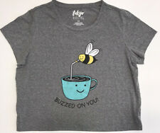 Tokyo Darling, Buzzed on You, Size Large, Gray, Bee, Coffee, T-Shirt, Super Soft