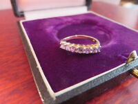 Hübscher 925 Silber Ring Funkelnd Lila Flieder Violett Prinzessin Vergoldet