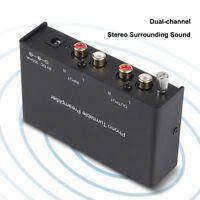 Zweikanal Vorverstärker Ausgang Noise Cancelling Phono Vorverstärker für Phono