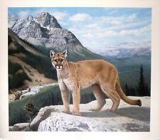 "Charles Fracé  ""His Domain"" art print- Western scene with cougar LTD ED  S/N COA"