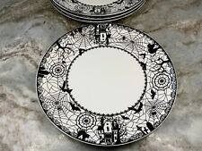 Halloween Dinner Or Salad Plates. Wicked, Spooky Lace By Ciroa. Set Of 4. New.