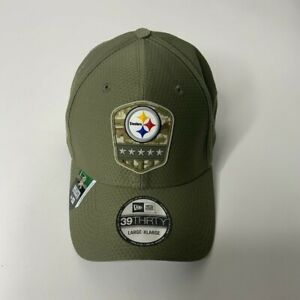 Steelers Salute to Service Green New Era 39THIRTY Stretch Fit Hat Mens L/XL NWT