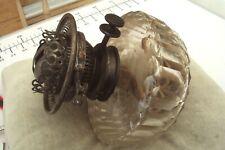 More details for vintage hinks duplex patent twin wick oil lamp burner.