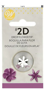 Wilton Stainless Steel Large Drop Flower Decorating Tip #2D
