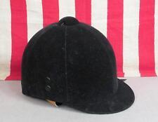 Vintage Wendover World Cap Black Velvet Equestrian Horse Riding Helmet Sz 6 1/2