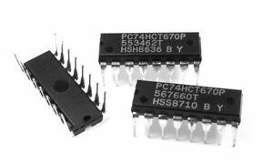 PC74HCT670P (CD74HCT670E) 4x4 Register File 74HCT670 IC (1 pcs)