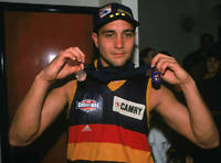 OLD ADELAIDE CROWS PHOTO Andrew Mcleod Holds Up The Norm Smith Medal