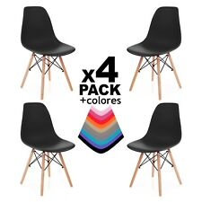 Due-home (nordik) - pack 4 sillas Tower silla Réplica negro