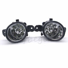 Pair White 9 LED Fog Driving Light Lamps H8 Bulbs Driver Passenger Sides
