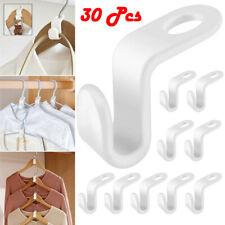 30Pcs Plastic Hook Connectors Clothes Space Saving Hanger Organizer Household