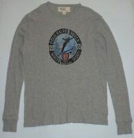Mens L Polo Ralph Lauren LS T-Shirt Waffle Knit Pajama Top Snow Ski Winter Sport