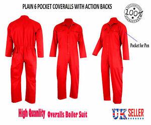 Mens Working Coveralls Overalls Pant Shirt BDU Working Wear Carpenter UK
