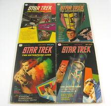 Star Trek The Enterprise Logs Volume #1,#2,#3,#4 Set GOLDEN PRESS 1976-1977 NR