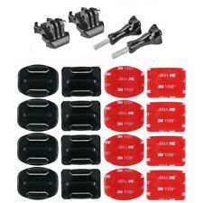 Fits GoPro HERO 9 Flat Curved Adhesive Sticky Mounts Pads x8 Accessories