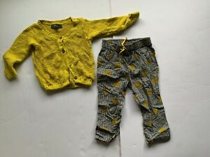 Bhumi Yellow cardigan and country road pants. size 1-2