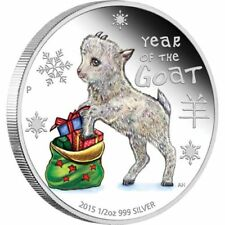 2015 1/2 oz. Silver Proof Coloured Coin Year of the Goat