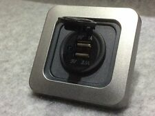 CBE C-Line Double USB Socket / Module Charger Surround & Faceplate, CAMPERVAN
