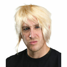 Modern Emo Men's Blonde Wig Fancy Dress Costume Accessory