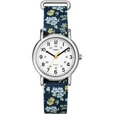 Timex Weekender Slip-Thru Mid-Size Watch - Blue/Floral