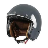 DOT 3/4 Open Face Motorcycle Helmet Sun Visor Retro Vintage Suede Liner M-XXL US