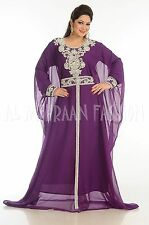 DUBAI NEW FANCY JILBAB ARABIAN EXCLUSIVE MOROCCAN KAFTAN DRESS ABAYA 208