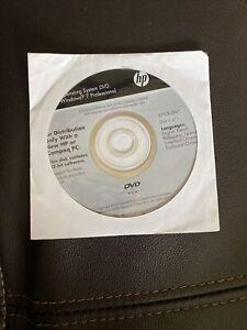 Hp Compaq Operating System CD Windows 7 Professional System