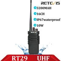 Retevis RT29 Walkie Talkies IP67Waterproof UHF 10W VOX Scan two Way Radio ham
