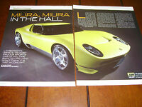 2006 LAMBORGHINI MIURA CONCEPT CAR ***ORIGINAL ARTICLE***