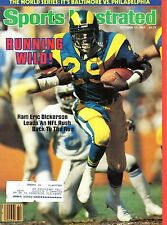 1983 Sports Illustrated, Football, magazine, Eric Dickerson, Los Angeles Rams~VG