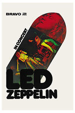 Robert Plant/ Jimmy Page: Led Zeppelin Atlantic Records Promotional Poster 1970