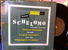 """EMANUEL FEUERMANN CELLIST BLOCH SCHELOMO 10"""" RCA VICTOR LCT 14 STOKOWSKI"""